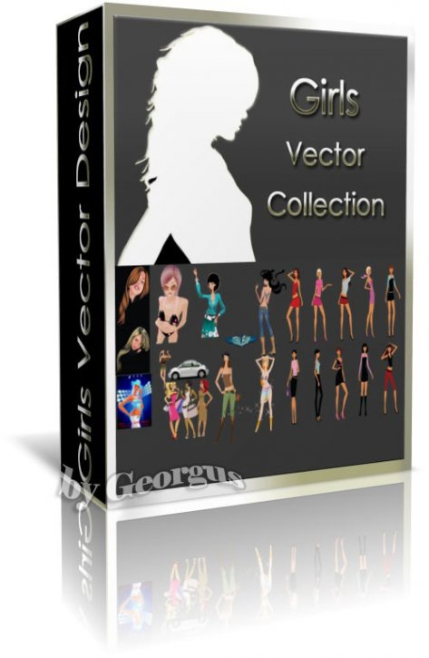 Very large vector collection of girls