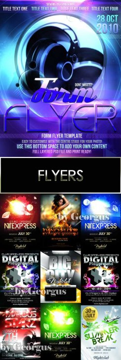 Collection flyers (PSD)